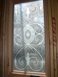 Lazio Glass Window Etched Glass Tuscan Design