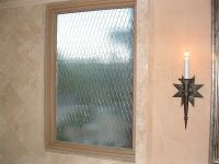 Lustrous Grid Glass Window Etched Glass Victorian Decor