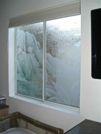 Trpcl Waterfall Glass Window Etched Glass Tropical Style