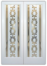 Arabella I Etched Glass Front Doors French Decor