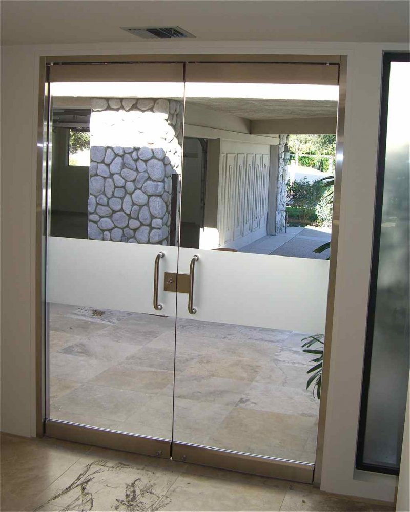 Solid Frost Band Frameless Glass Doors Sans Soucie