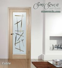 Cable Etched Glass Front Doors Asian Design