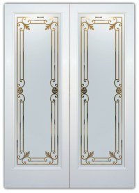 Miranda Glass Etched Glass Front Doors Tuscan Decor