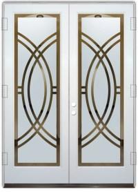 Arcs II Etched Glass Front Doors Art Deco Design