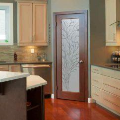Etched Glass Kitchen Cabinet Doors Shaker Island Frosted Pantry Door - Sans Soucie Art