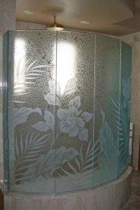 glass shower doors - Sans Soucie Art Glass
