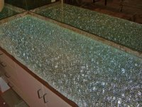 Shattered Glass Bar Top: Starphire over Clear Mirror ...