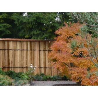 Bambuszaun im Japangarten von Zensho Shimokawa
