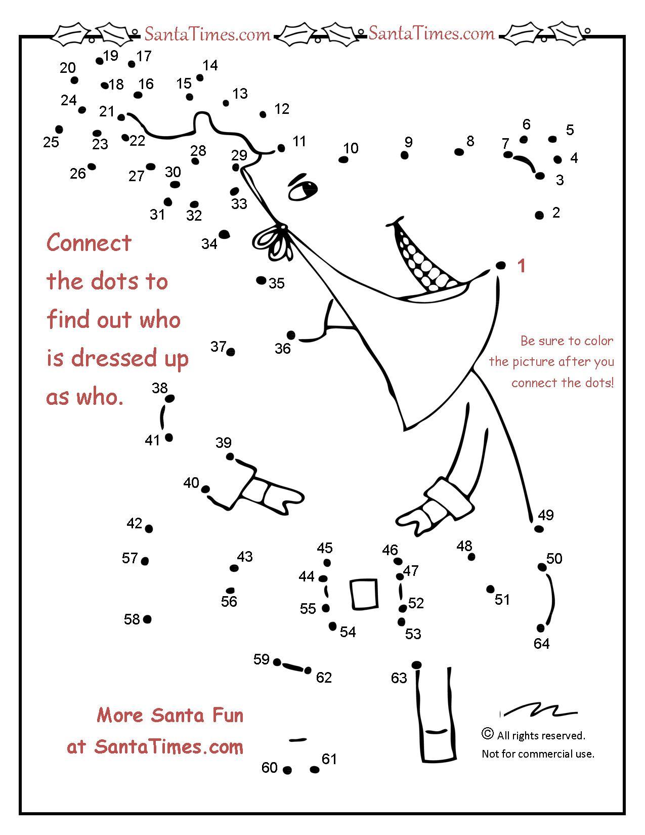 Christmas Who Dot To Dot
