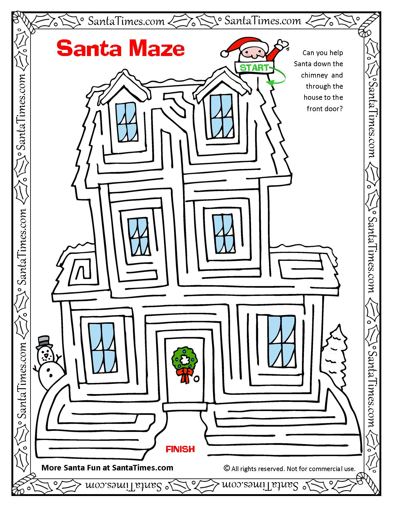 Santa House Maze With Images