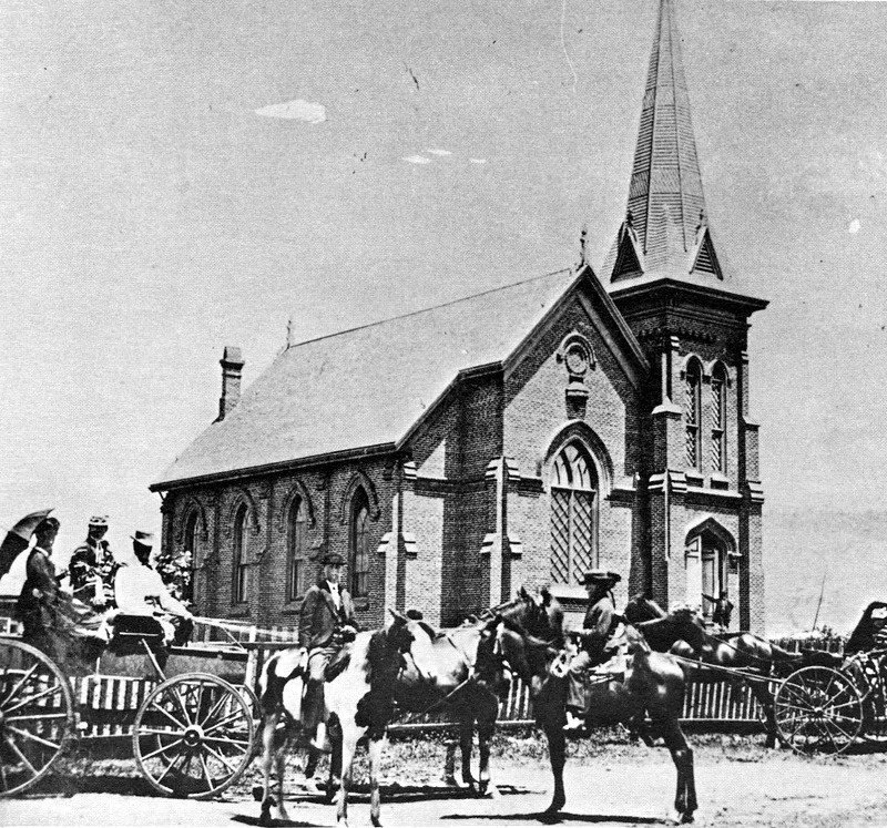 First Building of First Congregational Church of Santa Barbaraat Santa Barbara and Ortega, 1869-1889
