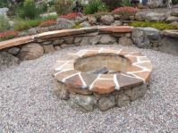 Firepit in the Gravel Circle