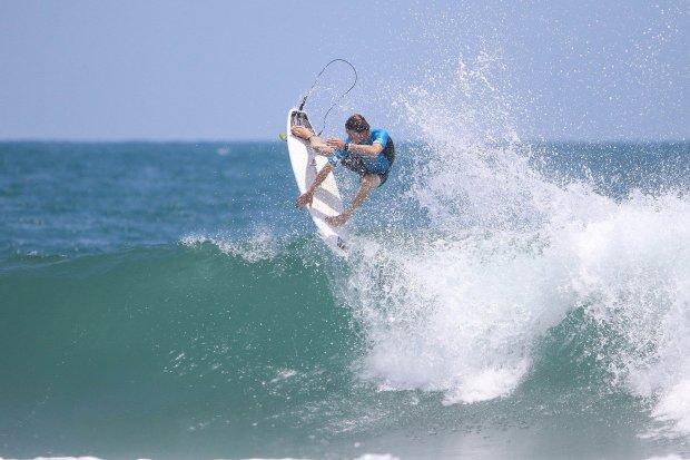 Santa Cruz surfers Shaun Burns, above, ...