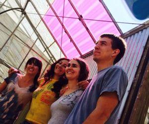 The Soliculture team, left to right: Melissa Osborn, Carley Corrado, Ingrid Anderson, and Markus Short. (Photo credit: Sundown Hazen)