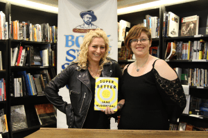 Jane McGonigal, left, and Bookshop Santa Cruz's Ivy Quirk during McGonigal's book talk. (Photo credit: Jan Janes)
