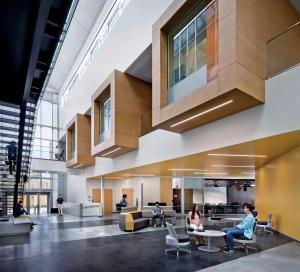 The first floor of the CSUMB Business and Information Technology building (Credit: David Wakely)