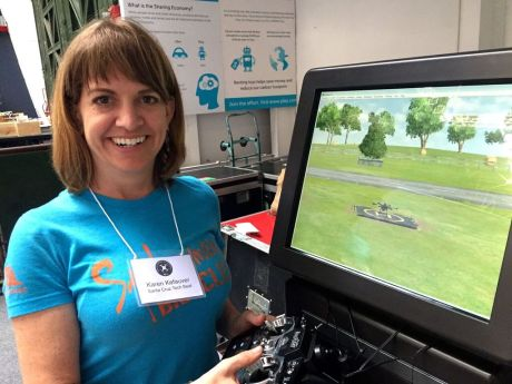 Freelance journalist Karen Kefauver of Santa Cruz learned that the safest way to start flying drones is to use a simulator, which allows the pilot to choose the right level of challenge, from beginning to advanced. It's a lot cheaper to crash a virtual drone!