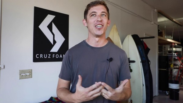 Former UCSC graduate researcher John Felts, now CEO and founder of Cruz Foam, describes the rewards, hard work and excitement of becoming an entrepreneur