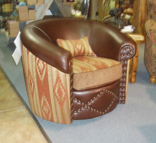 Barrel Swivel Chair Santa Fe Company OKC