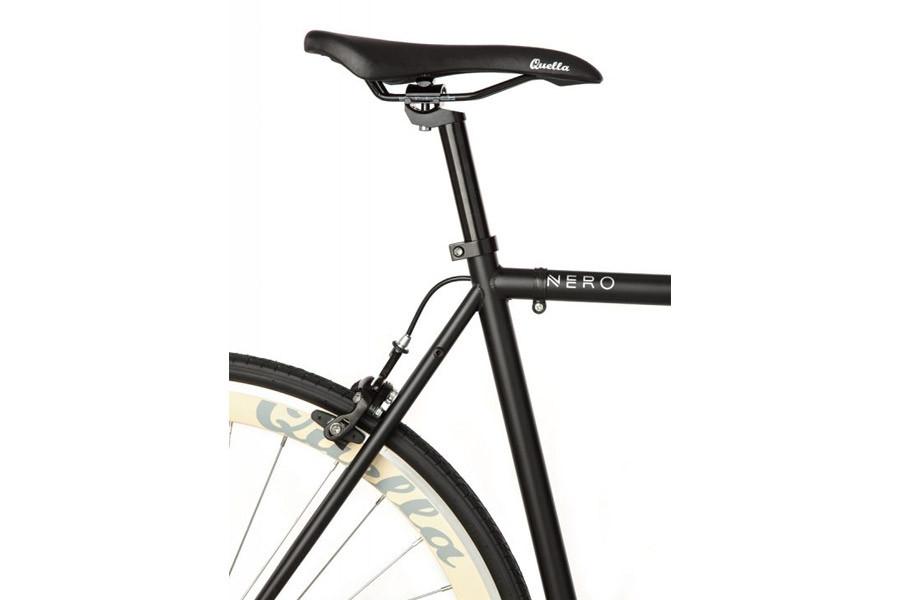 Buy the Quella Bike Nero Ceram single speed bike