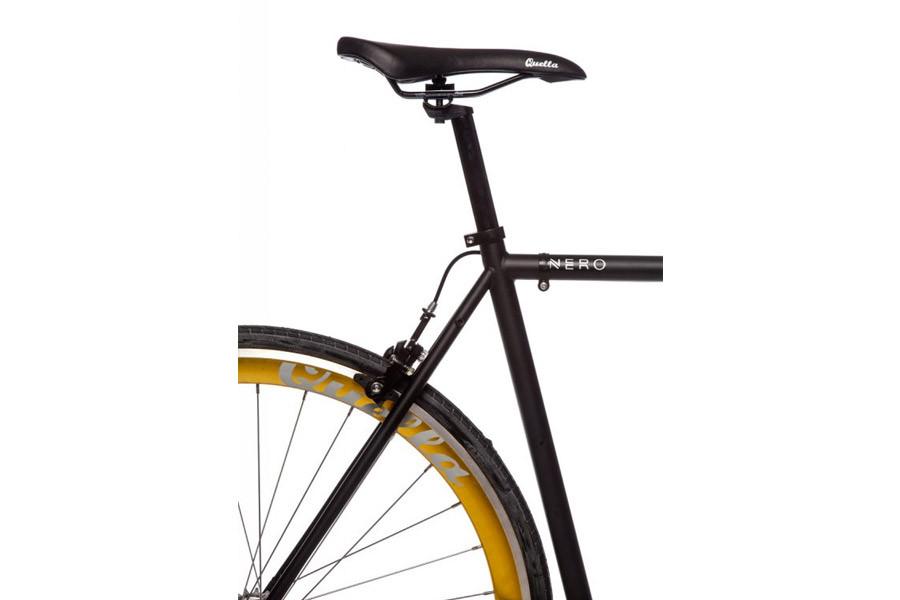 Buy the Quella Bike Nero Gold Single Speed Bicycle