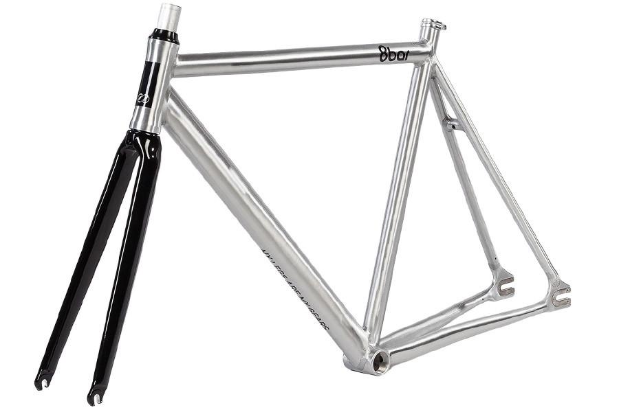 Acheter cadre pour vélo fixie 8bar KRZBERG v4 argent