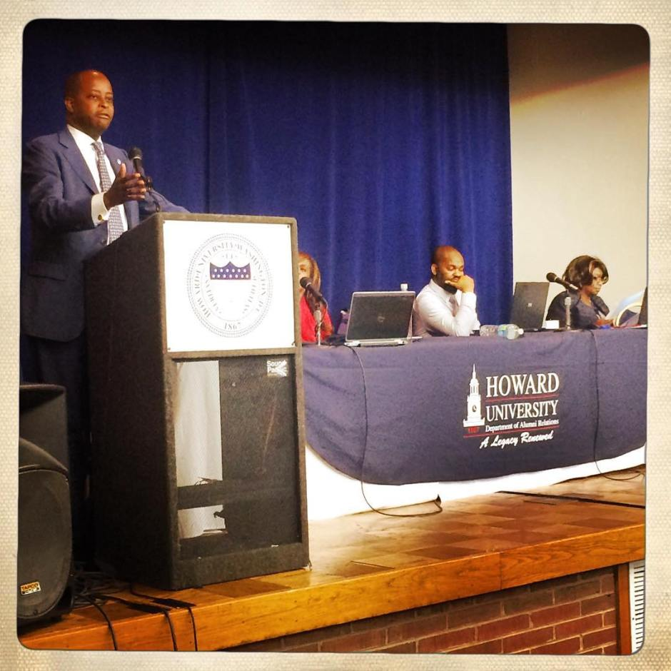 President Frederick breaking it down for y'all. Because #MyHowardis THOROUGH. #HUAA