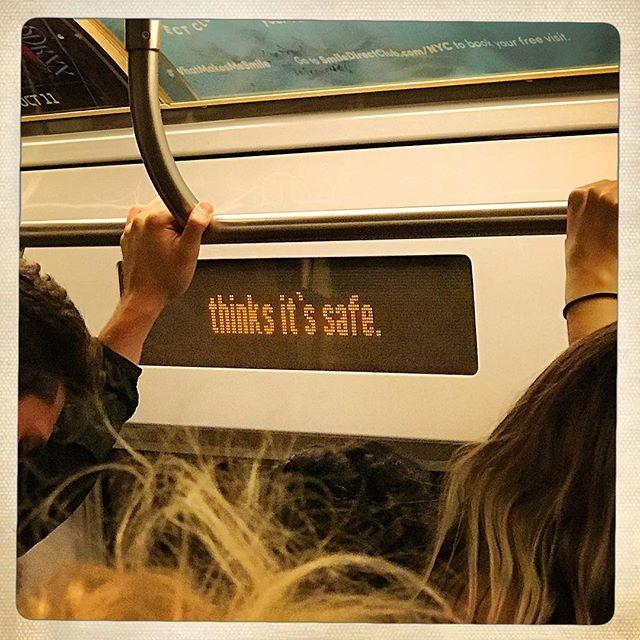 PLOT TWIST: It's not. . . . . . #signs #nyc #subway