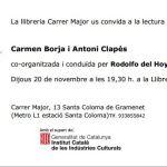 Cita de poetes amb Carmen Borja i Antoni Clapés