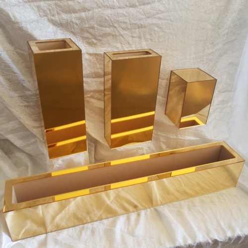 Gold Laminated Flower Boxes Watertight – Pre-Made Sizes