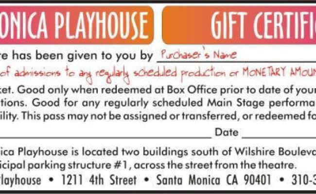 Gift Certificates Santa Monica Playhouse