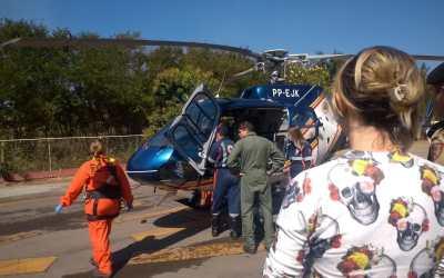 Itaunense é transferido para  Hospital João XXIII após acidente