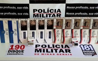 Idoso é detido com 130 maços de cigarros falsificados