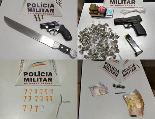 Seis são detidos em Itaúna com drogas e armas