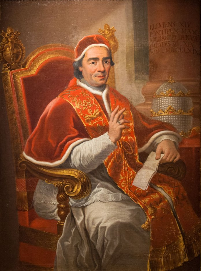 Resultado de imagen para Fotos del papa Clemente XIV
