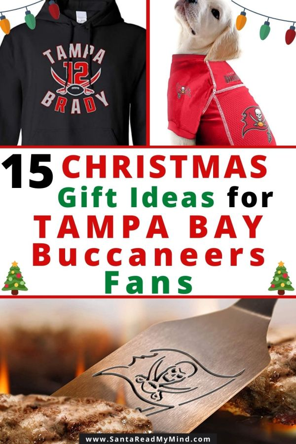 15 Christmas Gift Ideas for Tampa Bay Buccaneers Fans - includes gifts for male Buccaneers fans, female, youth and even pets