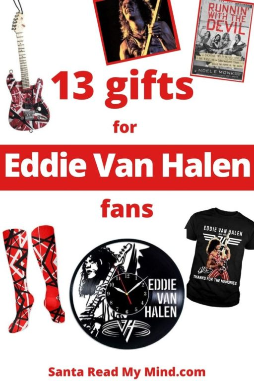 13 Rockin' Gifts for Eddie Van Halen fans -  these Eddie van halen gifts include guitar picks, socks, shirts and more...