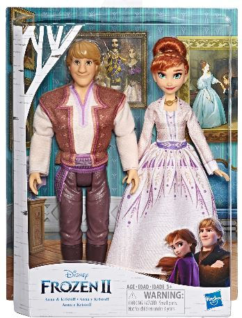 gifts for Frozen lovers kids . There is an Anna and Kristoff doll set for ages 3+