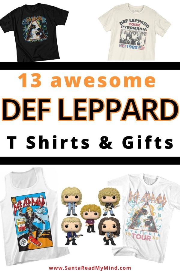 Def Leppard t shirt and gift ideas. It includes Def Leppard union jack t shirt, Def Leppard Concert t shirts and more...