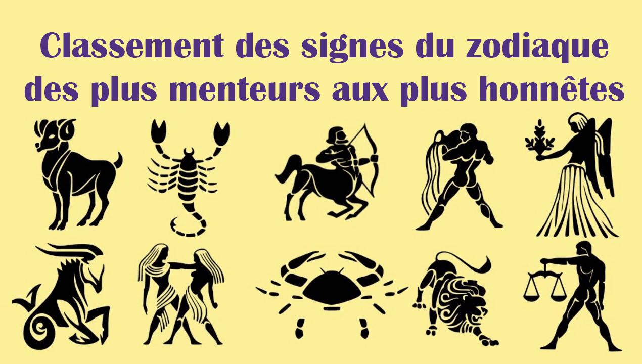 Classement des signes du zodiaque des plus menteurs aux