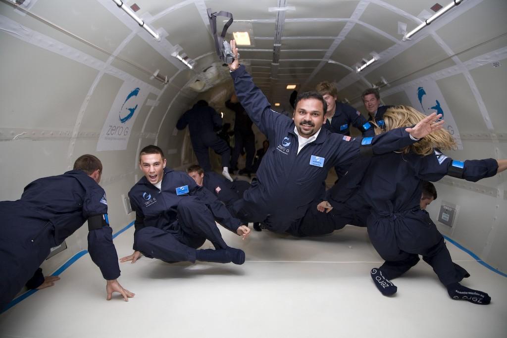 Santhosh George : Space Tourist having fun at Zero gravity