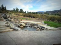 Large waterfall - Santiago Landscape & Maintenance Inc.