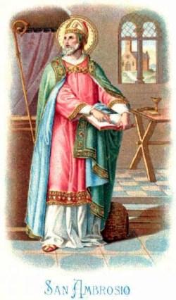 sveti Ambrož - škof in cerkveni učitelj