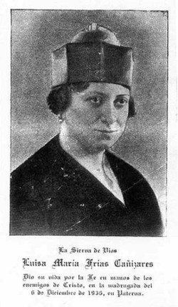 blažena Alojzija Marija Frías Caňizares - devica in mučenka