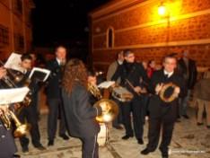 Banda de música al calor de la lumbre