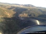 Vista aérea del día campestre en el Molino, lunes 9 de abril de 2012, por Alberto Jiménez Navarro desde su ultraligero. Al fondo Santisteban.