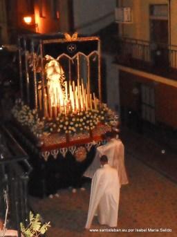 Virgen de los Dolores y San Juan Evangelista a su paso por Calvario