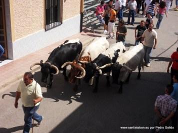 Encierros 2012 desde el balcón de Juan Miguel Galdón y Ana Fuentes.