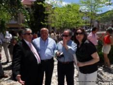 Nuestros amigos Benito, Juan Miguel, Juan y Carmen al término de la Solemnidad de Pentecostés.