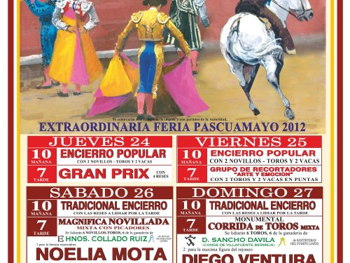 Cartel de Toros Santisteban 2012 Pascuamayo